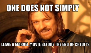 One does not simply leave a marvel movie